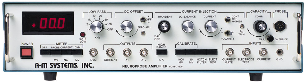 Model 1600 Neuroprobe Amplifier Test