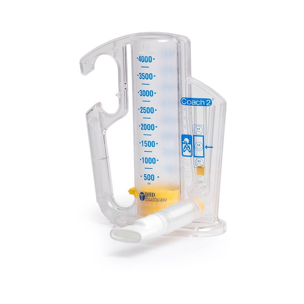 Coach 2 Incentive Spirometer - 4000 mL with One-Way Valve