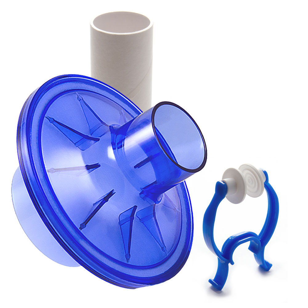 VBMax 48 mm PFT Kit With Standard Filter, Blue Rubber Nose Clip for KoKo Spirometers