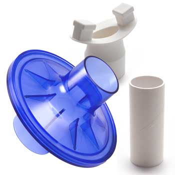 VBMax 35 mm PFT Kit With Standard Filter, Rubber Mouthpiece for CareFusion, Vmax, SensorMedics, PDS, Gould, Spirolink